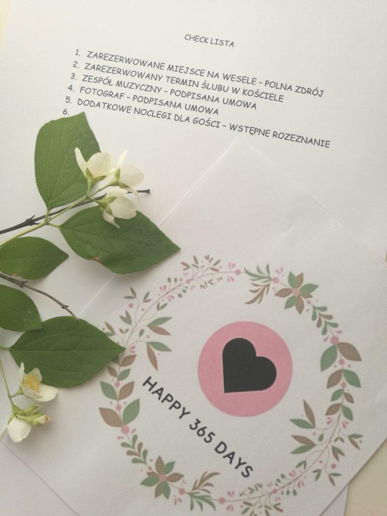 Checklista rok przed ślubem