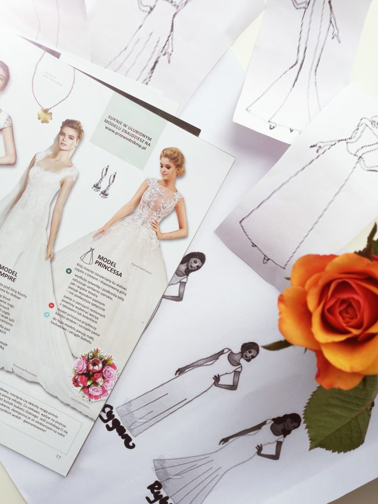 Suknia ślubna, model princessa